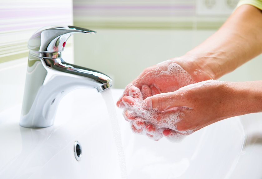 Antibacterial soap for pimple on scrotum